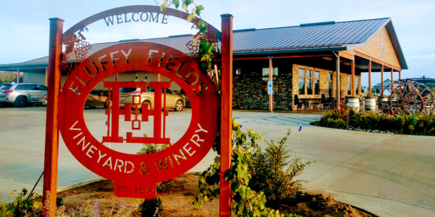 fluffy fields winery entrance