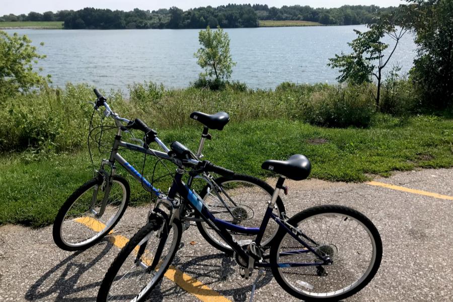 bikes at the lake