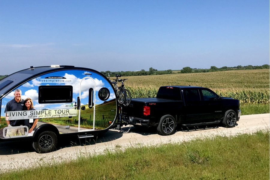 day of remembrance truck in cornfield