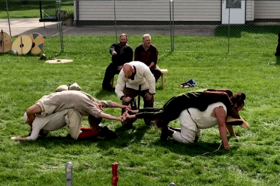 Viking games at largest scandinavian festival