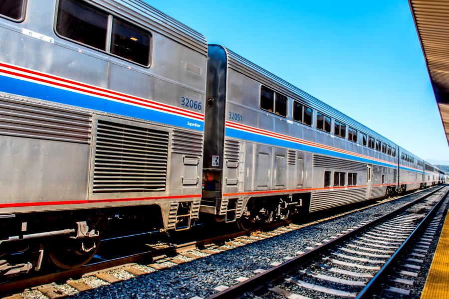 Amtrak trip on double decker rail car