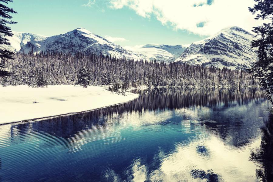glacier national park winter