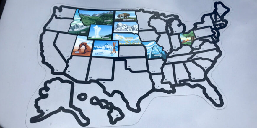 Filling In The State Map and Taking State Selfies – Day 50