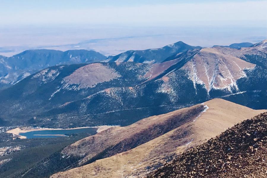 pike's peak summit view