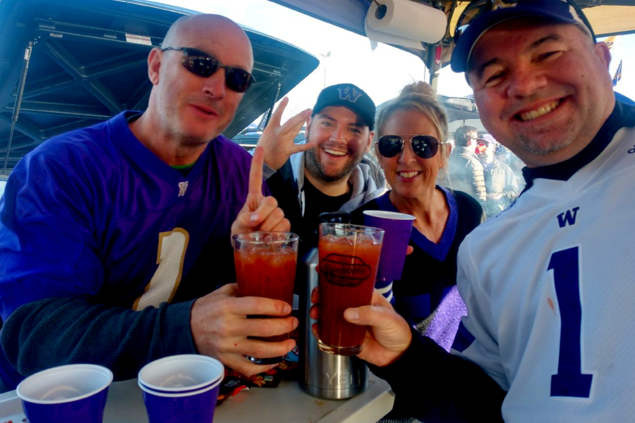 Jim & Stephanie (right) even helped us continue our Saturday Bloody Mary Tradition on the road!