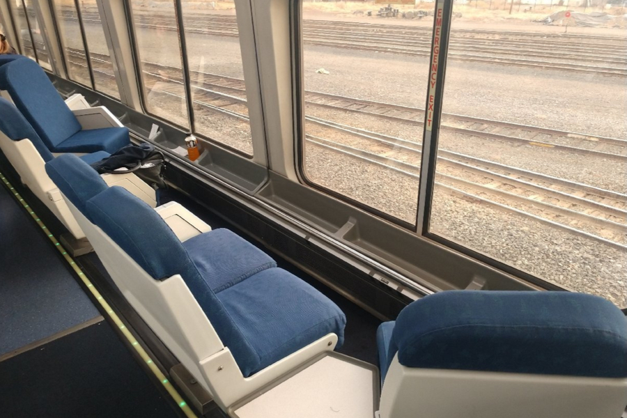 first Amtrak train adventure