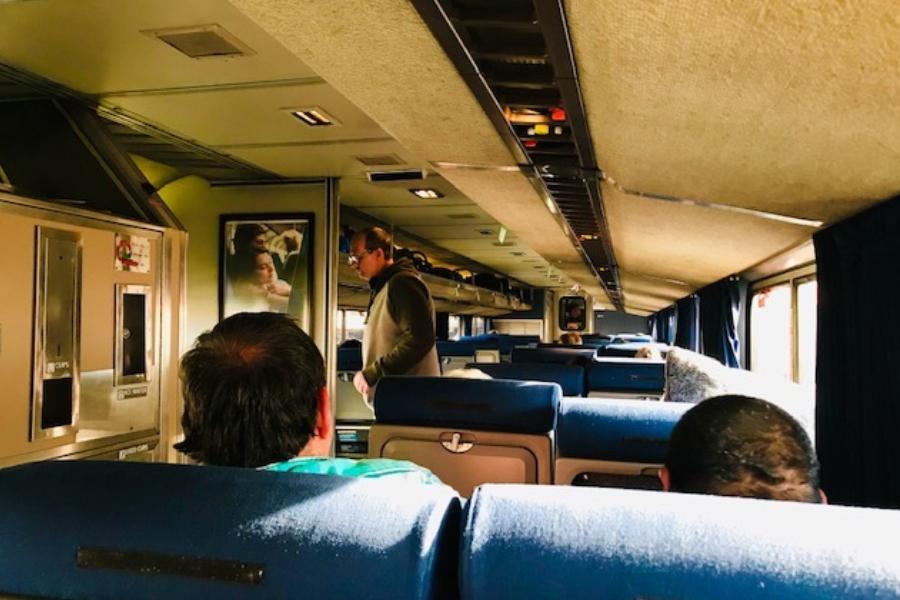 coach seats on amtrak train