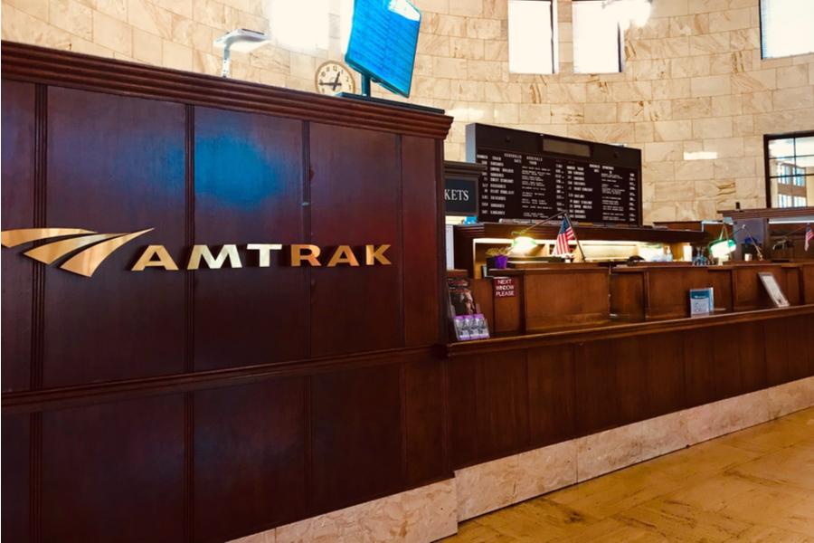 Amtrak counter