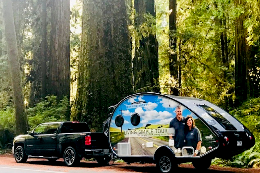 the truck in the redwoods