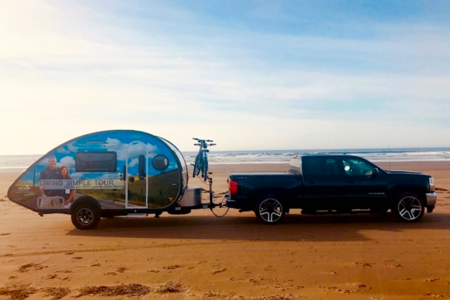 our camper on the world's longest beach