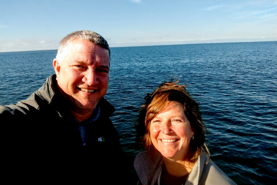 jim and mary whale watching