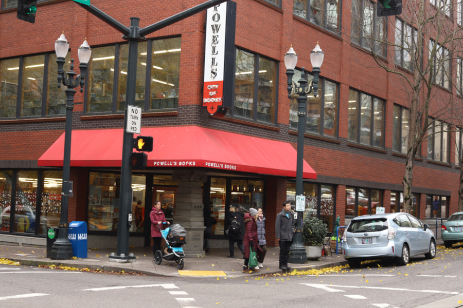 Powell's City of Books – And Finding Our Book On The Shelf! – Day 70