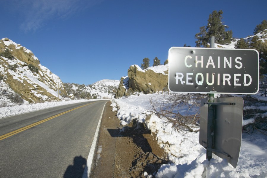 chains required outside of Bakersfield