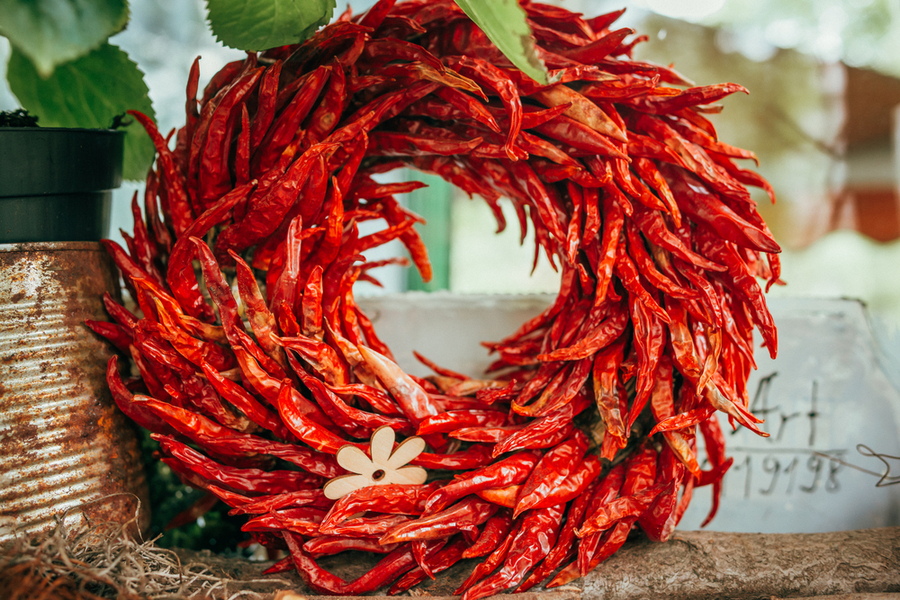 chile pepper wreath