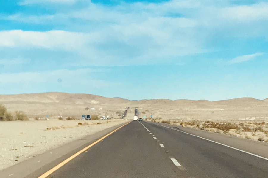 road in the mojave