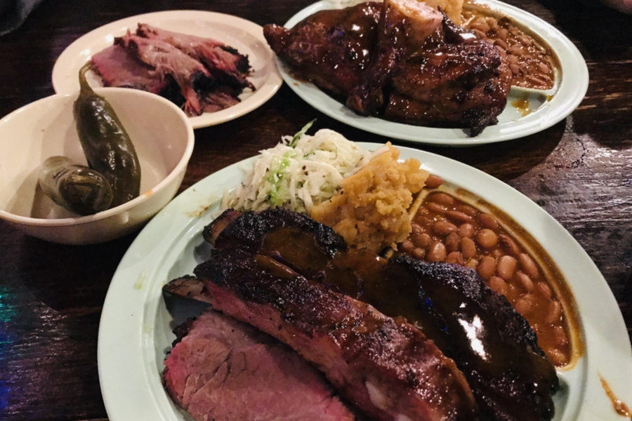 our texas barbecue dinner