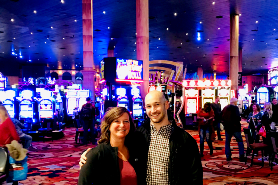 spending time with family at the casino