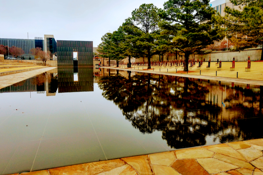 Oklahoma City National Memorial - Reflecting pond