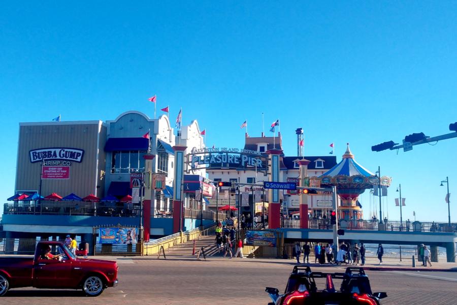 boardwalk Pleasure Pier in Galveston