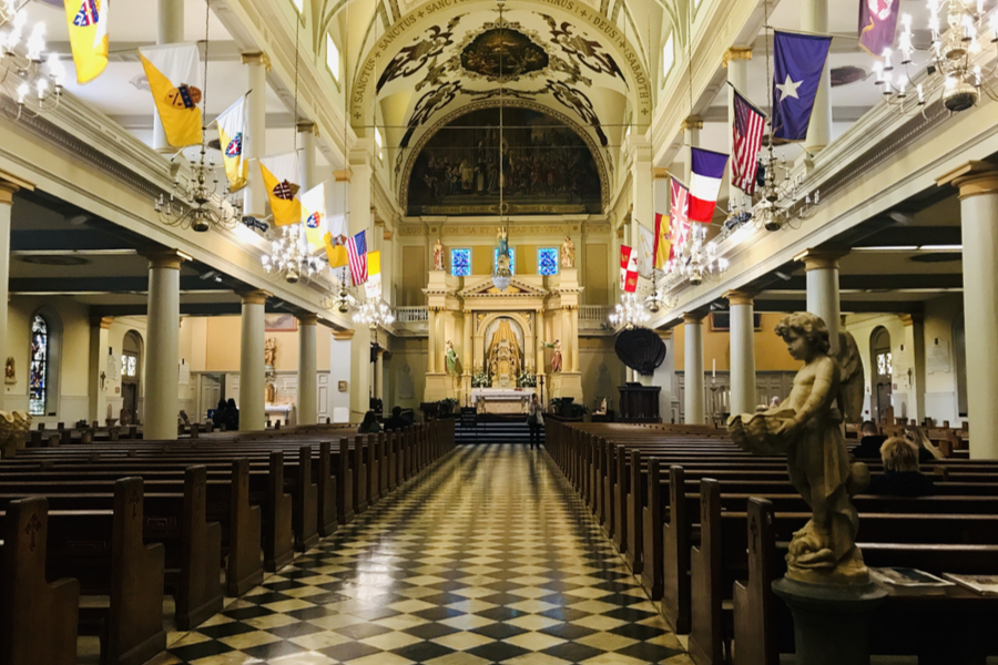 inside st. louis cathedral