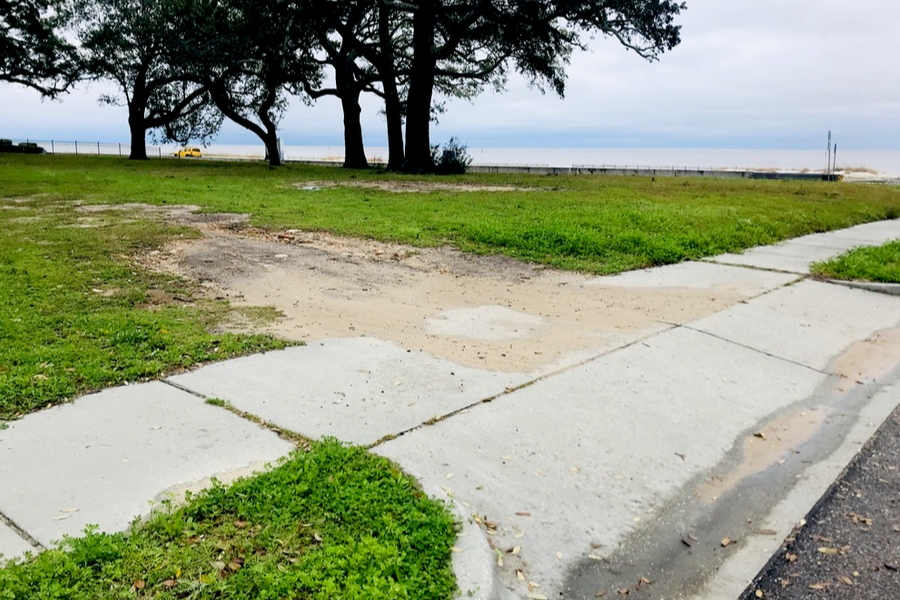 Hurricane Katrina driveway