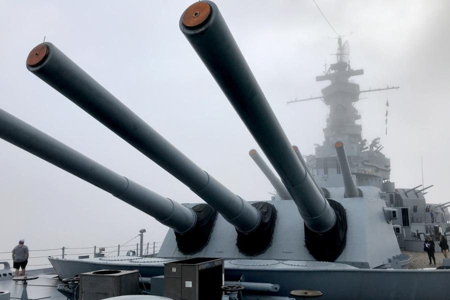 Battleship Memorial Park Turrets