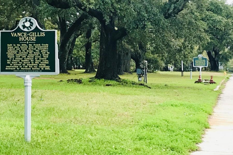 hurricane katrina historical markers