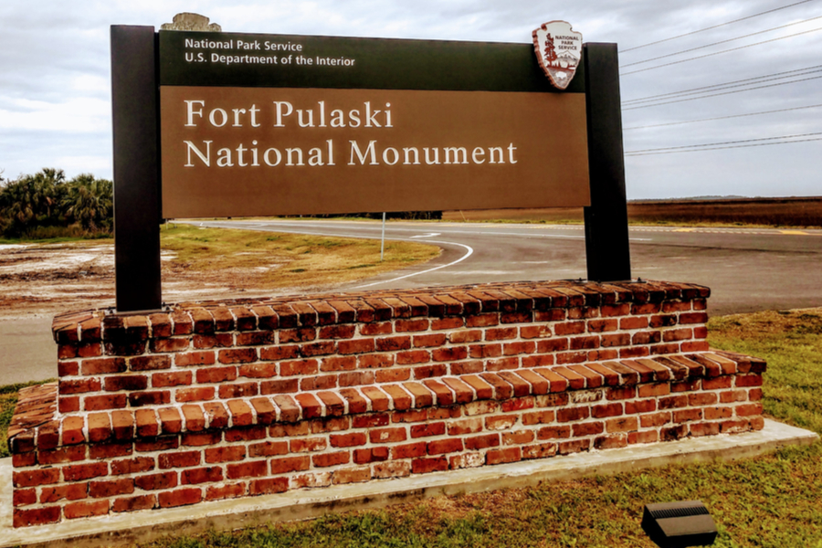 Pulaski National Monument entrance