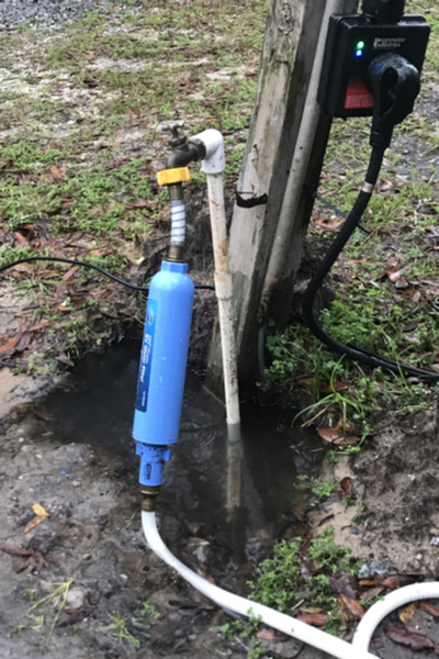 fixed water pipe