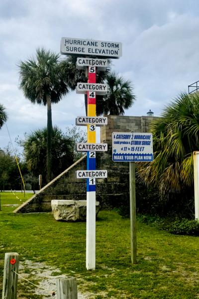 hurricane flood marker